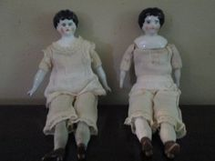 Two Little German Antique China Head Dolls by ParisPaintingsEtc, $75.00