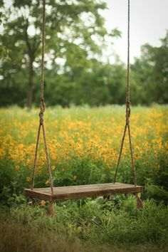 Reclaimed wood bench swing – Hanging rope swing – Rustic barn wood – Backyard porch – Country summer fun – Photo prop - sloped back yard landscaping Bench Swing, Wood Swing, Wooden Tree Swing, Diy Swing, Rustic Barn, Barn Wood, Best Lawn Mower, Reclaimed Wood Benches, Backyard Projects