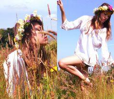 Vintage Gypsy Shirt, Zara Bodycon Skirt, Diy Flower Band