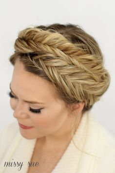Fishtail Crown Braid This style is best suited to woman who have long to very long hair. If your hair is medium length we can always discuss options available to add length.