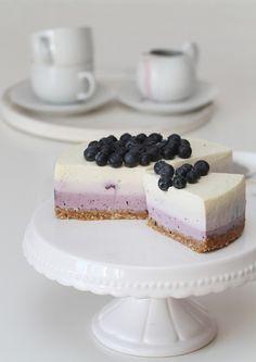 Kék áfonyás, színátmenetes sajttorta - Kifőztük, online gasztromagazin Tart, Cheesecake, Food And Drink, Cooking, Foods, Drinks, Kitchen, Food Food, Drinking