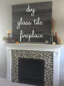 Definitely not this busy color scheme, but a great tutorial for replacing the fireplace surround with glass tiles