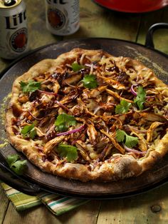 BBQ Chicken Pizza - Grill with Guy