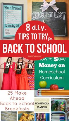 Back to school Tips to Try...From planning your children's outfits in advance to homework stations and saving money on homeschool curriculum, these tips are awesome! All of these DIY tips to try are from some of my very favorite bloggers.