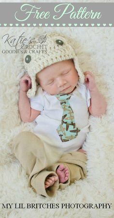 Free Aviator Crochet Hat Pattern by Katie's Crochet Goodies