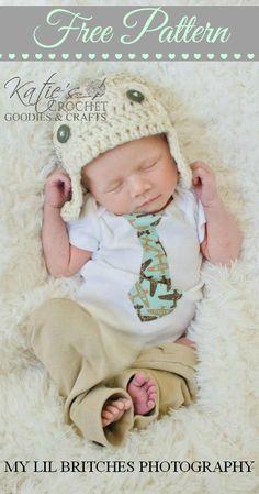 Free Aviator Crochet Hat Pattern by Katie's Crochet Goodies