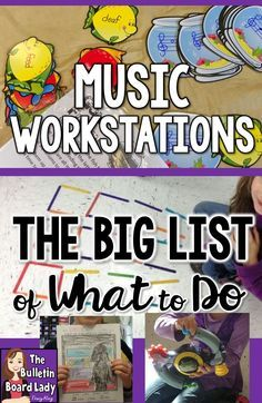 Tips and Tricks for using Workstations or Centers in Your Elementary Music Class -This is the BIG list of things you can do. Composing, singing, writing, reading, dancing and more are all possible with good planning! Preschool Music, Music Activities, Teaching Music, Montessori Preschool, Learning Piano, Preschool Curriculum, Physical Activities, Music Lesson Plans, Music Station