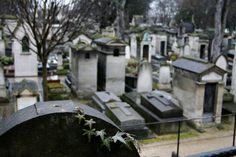Romantic cemetery graves