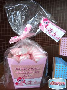 lembrancinhas - Cachepot com marshmallows