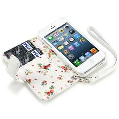IPHONE 5 PREMIUM PU LEATHER WALLET CASE WITH FLORAL INTERIOR - WHITE by Terrapin. $8.95. http://yourdailydream.org/showme/dprvr/Br0v0r8gOkSgEyTdFvCl.html