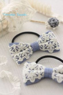 denim and lace cute hair bows Jean Crafts, Denim Crafts, Denim And Diamonds, Denim Ideas, Barrettes, Craft Show Ideas, Diy Hair Bows, Recycled Denim, Denim And Lace