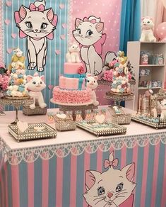 The glamorous Marie The Aristocat Disney Birthday Party Ideas Photo 1 For Aristocats Birthday Party images below, is part of Aristocats Birthday Party document which is categorized within Birthday Ideas and published at January Birthday Party Images, Birthday Party Desserts, Birthday Party Decorations, Party Themes, Disney Birthday, Cat Birthday, Girl First Birthday, First Birthday Parties, Hello Kitty Birthday Party Ideas