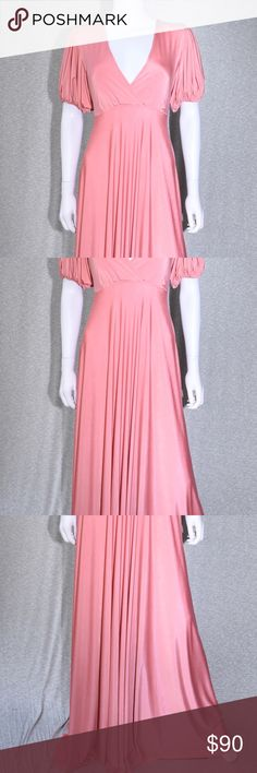 Salmon Color Formal Jersey Casual Maxi Dress CONDITION New With Tags This  item has original tags e71463b077b47