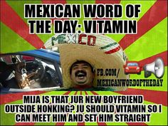 Mexican Word of the Day Vitamin