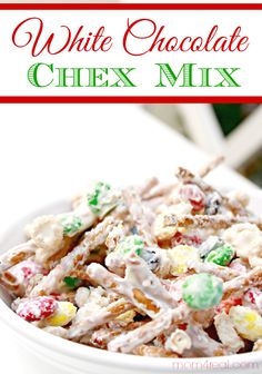 The best Chex mix you will ever eat or make! This White Chocolate Chex Mix makes a great teacher gift and your friends and neighbors will love it too! via @Mom4Real