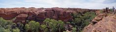 Bridges across Kings Canyon, Panorama