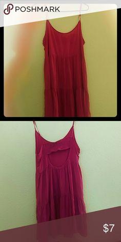 Spaghetti strap hot pink dress Summer chill dress Other Dresses
