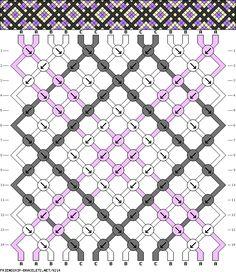 Muster # 9214, Streicher: 14 Zeilen: 14 Farben: 3