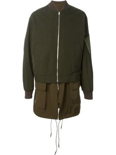 Shop Juun.J military bomber jacket  in Maison Studio from the world's best independent boutiques at farfetch.com. Shop 400 boutiques at one address.