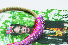 collier, necklace, rose, pink, bobo, bohème, vintage, printemps, été, art