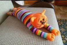 Amigurumi Toy Models Were Very Common Un - Diy Crafts Scrap Crochet, Diy Crafts Crochet, Crochet Fox, Crochet Animals, Crochet Elephant Pattern, Knitted Doll Patterns, Knitted Dolls, Crochet Patterns, Hello Kitty Crochet