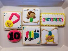 Re: Gymnastics Set Iced Cookies, Royal Icing Cookies, Cake Cookies, Sugar Cookies, Cupcakes, Happy Birthday Cookie, Birthday Cookies, 3rd Birthday, Birthday Ideas