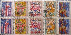 Czechoslovakia folk stamp set
