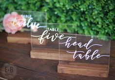 Custom Acrylic Table Numbers wedding or event