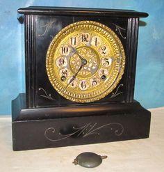 Vintage GILBERT Jamaica Wood Mantel Clock Project/Parts J1401