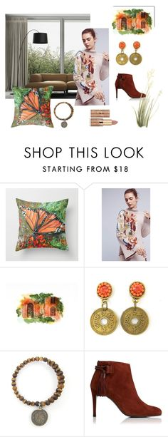 """Monarch"" by crsevier ❤ liked on Polyvore featuring interior, interiors, interior design, home, home decor, interior decorating, Knitted & Knotted and tarte"