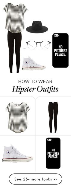"""Everday Hipster Look"" by cherylhughes on Polyvore featuring H&M, rag & bone, Mykita, Casetify and Converse"