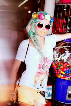 I just love it...so much. Her hair is magical and I've been dying for some heart sunglasses!