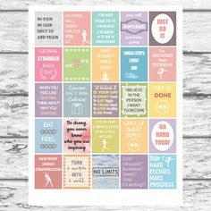 Printable Fitness Planner Stickers | Workout Motivational ...