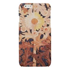 ELEGANT YELLOW BROWN DAISY GLOSSY iPhone 6 CASE - patterns pattern special unique design gift idea diy