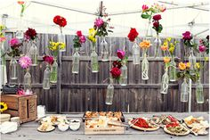 Vintage deco for outdoors party