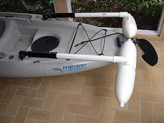 Image result for making outriggers kayaks