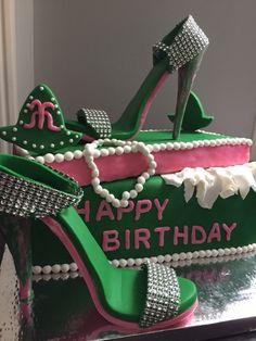 This cake was created by Kiki's Little Kakes. Designed by Soror Danielle Porch Happy Birthday, 20th Birthday, Birthday Wishes, Birthday Cake, Birthday Quotes, Alpha Kappa Alpha Sorority, Delta Sigma Theta, Aka Sorority, Sorority Life