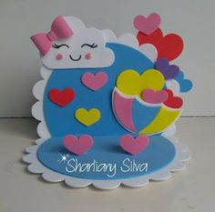 Craft Activities For Kids, Crafts For Kids, Arts And Crafts, Cloud Party, Flower Pens, Quilled Paper Art, Heart Wallpaper, Foam Crafts, Diy Home Crafts