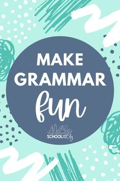 Need fun ideas for teaching grammar? This blog post outlines books, resources, and activities that your elementary students will love. #grammar #2ndgrade #3rdgrade