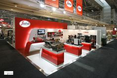 SEGAFREDO @ FINEFOOD Segafredo has made a serious impact at this professional caterers' show with a highly detailed stand that reflects the premium quality of both Segafredo coffee and their Saeco brand espresso machines. A second version of this stand has been created after the success of the first stand