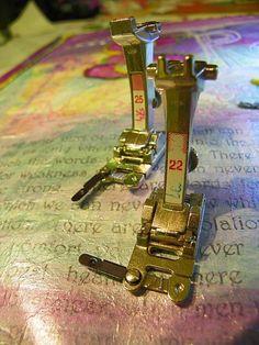 """MarveLes Art Studios: Bernina """"Sisters"""" Feet #22 and 25"""