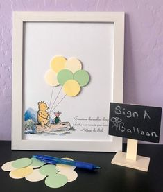 Classic Winnie The Pooh & Piglet Guest Book Alternative, Baby Shower, Birthday, Guestbook Kit Looking for an adorable guest book alternative for your baby shower or kids Birthday? This adorable Winnie the Pooh and. Deco Baby Shower, Shower Bebe, Baby Boy Shower, Baby Shower Keepsake, Baby Shower Guestbook, Baby Party, Baby Shower Parties, Baby Shower Themes, Baby Shower Book Theme