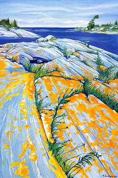 Margarethe Vanderpas - Fine Artist - Eastern Shores of Georgian Bay Watercolor Landscape, Landscape Art, Landscape Paintings, Watercolor Art, Landscapes, Canadian Artists, New Artists, Office Artwork, Art For Art Sake