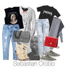 """Yeezzy fashion"" by sebastianorobio on Polyvore featuring Barbara Bui, MANGO, Giuseppe Zanotti, MaxMara, Chanel and adidas"