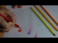 Les dégradés aux crayons de couleurs - YouTube