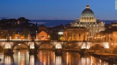 File photo of the dome of the Basilica di San Pietro towering over the Vatican City.