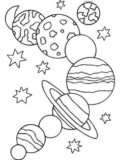 Solar System Coloring Pages - Planet Coloring Pages Collection Planet Coloring Pages Collection. There are various ways to introduce the planet and solar system to your child. One of them is to use planets and solar system coloring pages. Planet Coloring Pages, Space Coloring Pages, Free Coloring Sheets, Free Printable Coloring Pages, Coloring Pages For Kids, Coloring Books, Preschool Coloring Pages, Simple Coloring Pages, Easter Colouring