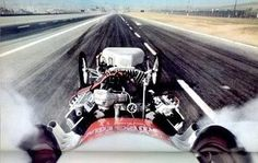 Dragster - View from the cockpit