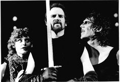 Kandis Chappell as Witch, Julian Lopez-Morillas as Macbeth, and Howard Swain as Witch in Macbeth, 1983. #calshakes40th