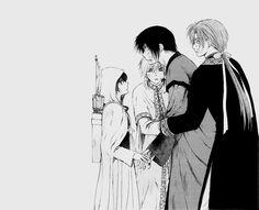 Akatsuki no Yona / Yona of the dawn anime and manga || Hak, Yona, Jaeha, and…